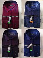 Приталенные молодежные рубашки с узором BENDU (размеры S,M.L.XL.XXL.XXXL)