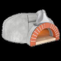 Model GR140 Valoriani. Печь для пиццы на дровах. Пиццы: 8 шт., фото 1
