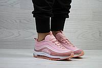 Женские кроссовки Nike яркие модные молодежные текстиль/замша+пена (розовые), ТОП-реплика, фото 1