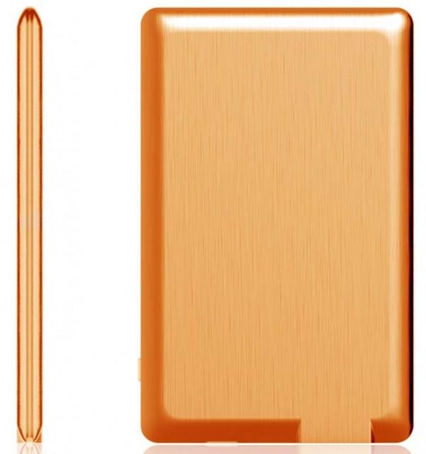 Портативная батарея Xoopar – Power Card (оранжевая, 1300 мА*ч)