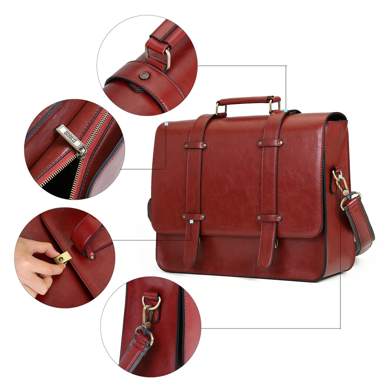 56cca742d796 Женская сумка-портфель Ecosusi вишневая (ES0120943A021): продажа ...
