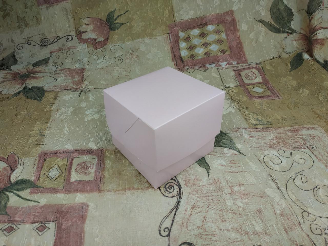 Коробка для 1-ого кекса / 100х100х90 мм / печать-Пудра / б.о. / лк / цв