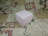 Коробка для 1-ого кекса / 100х100х90 мм / печать-Пудра / б.о. / лк / цв, фото 1