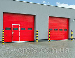Промышленные секционные ворота alutech protrend3250х3085 мм.