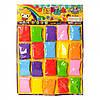 Масса для лепки D002 , 20шт(7цветов), на листе, в кульке, 38, 5-53-1, 5см
