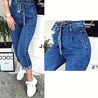 Стильные качественные женские джинсы на высокой талии