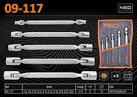 Набор ключей Torx Е6-Е24 с шарниром 5шт., NEO 09-117