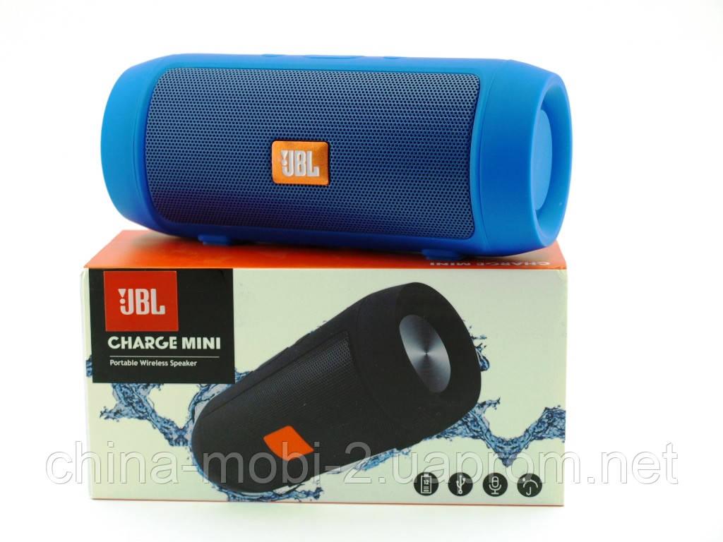 JBL Charge 2 mini 3W J006B копия, колонка с FM Bluetooth MP3, синяя