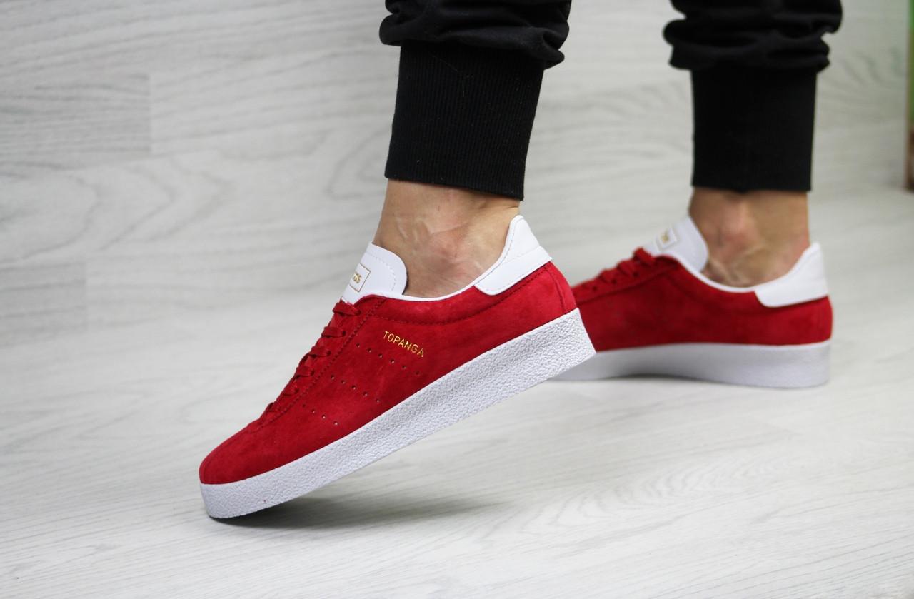 2e47795c4 Кеды женские Adidas Topanga весенние яркие модные стильные замша+резина  (красные), ТОП