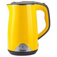 Електрочайник Magio МG-515N 1.7л двошаровий жовтий, фото 1