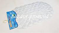 """SPA-коврик на присосках антискользящий массажный """"ракушка"""" (прозрачный без цвета) K018"""