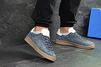 Стильні чоловічі кеди Adidas Topanga на весну повсякденні зручні на шнурівці в синьому кольорі, ТОП-репліка, фото 1
