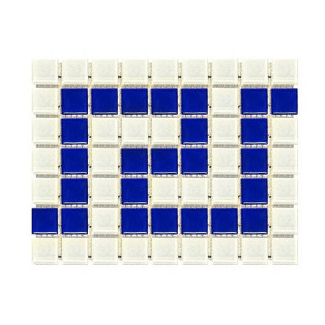 Фриз греческий Aquaviva Cristall W/B бело-синий, фото 2