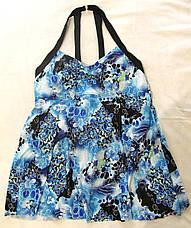 Купальник Сдельный.  Большие размеры.  Платье голубое., фото 2