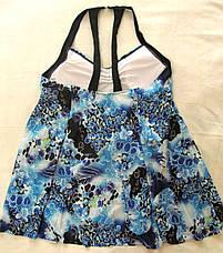 Купальник Сдельный.  Большие размеры.  Платье голубое., фото 3