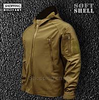 Куртка мужская SoftShell Койот тактическая Tactical Jacket Koyote Camo-tec 9cb9981483ca5