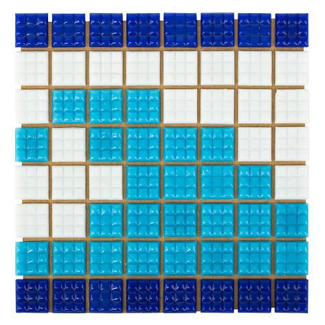 Фриз Волна из стеклянной мозаики Aquaviva U-37, фото 2