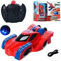 Машинка типа Человек Паук, которая умеет ездить по стенам, на радиоуправлении, машина SpiderMan 3399