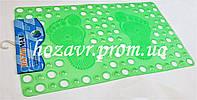Большой SPA-коврик на присосках массажный 77*46 см (салатовый) K024