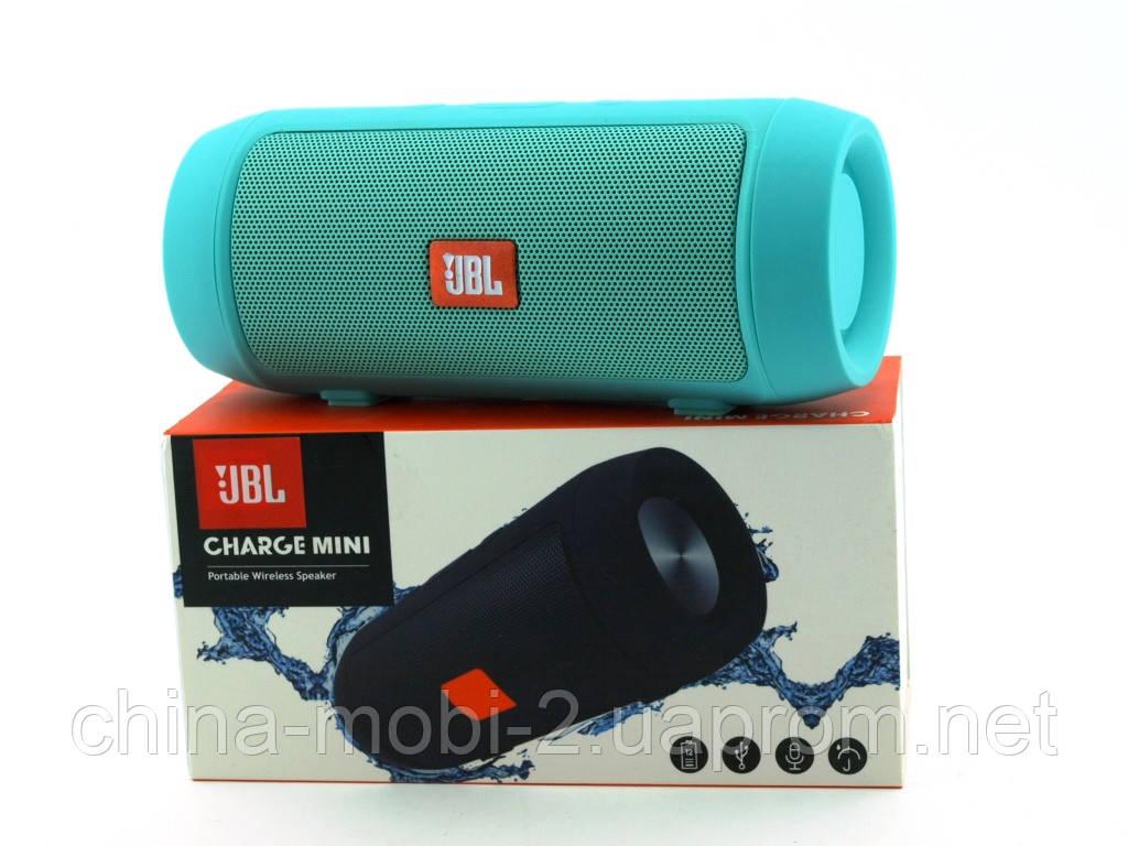 JBL Charge 2 mini 3W J006B копия, колонка с FM Bluetooth MP3, Teal мятная