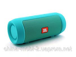 JBL Charge 2 mini 3W J006B копия, колонка с FM Bluetooth MP3, Teal мятная, фото 2