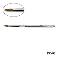 Кисть Lady Victory DO-08 - №8 для моделирования акрилом натуральная (соболь)