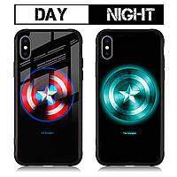 Чехол Huawei Mate 20 Pro Luminous Glass Captain America (капитан америка)