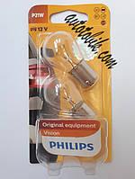 Автомобильная лампочка Philips Vision P21W 12V 21W (2шт blister), фото 1