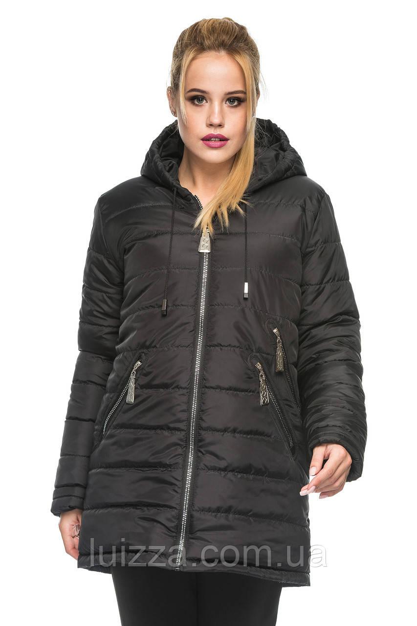 Зимняя удленная куртка 44-52р