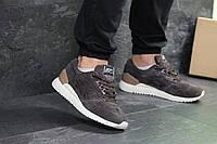 Повсякденні чоловічі кросівки Asics Gel замшеві якісні на шнурівці в коричневому кольорі, ТОП-репліка, фото 1