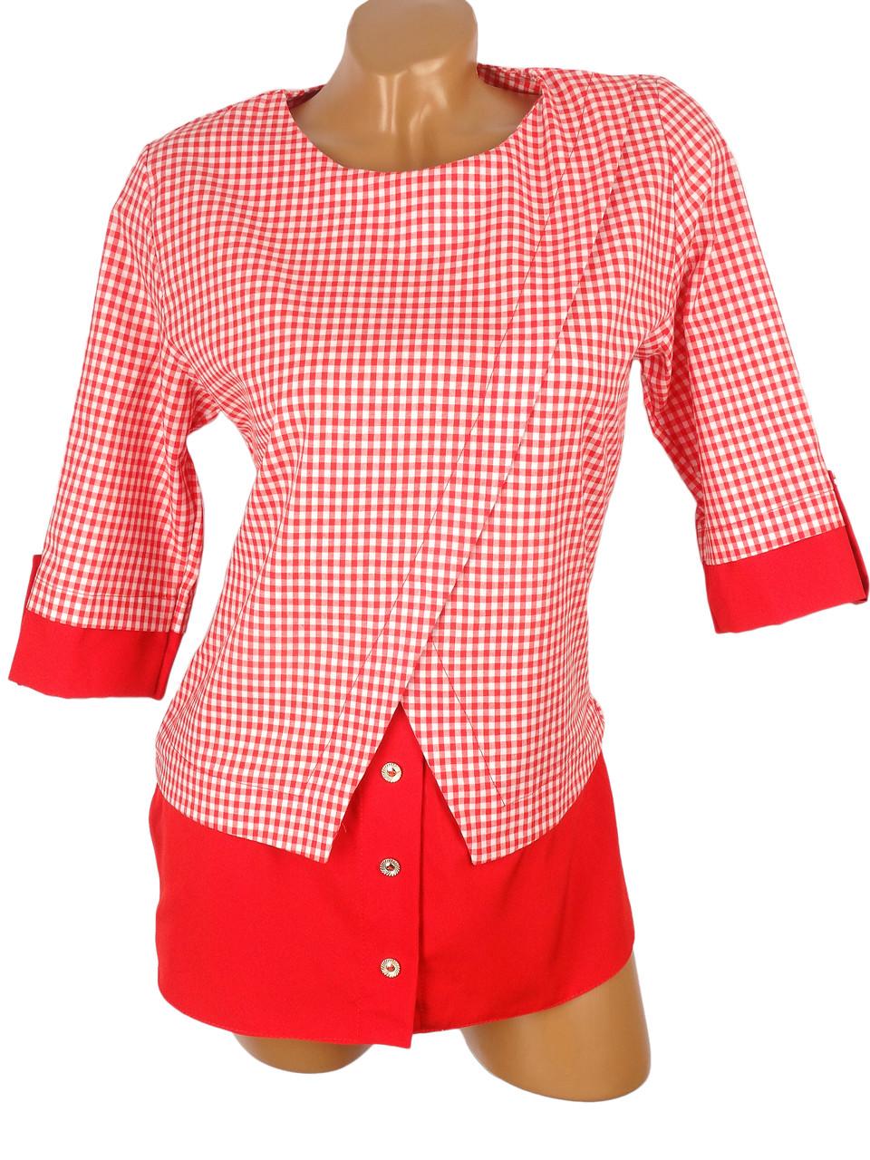 Джемпер с имитацией рубашки (в расцветках)