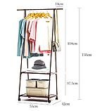 Стойка стеллаж для одежды Wardrobe Hanger - напольная вешалка на колесах, фото 2
