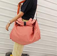 dc0f3a12 Сумка женская 40х20х40 см нейлоновая вместительная для путешествий большая  на плечо ручная кладь оранжевая AOU