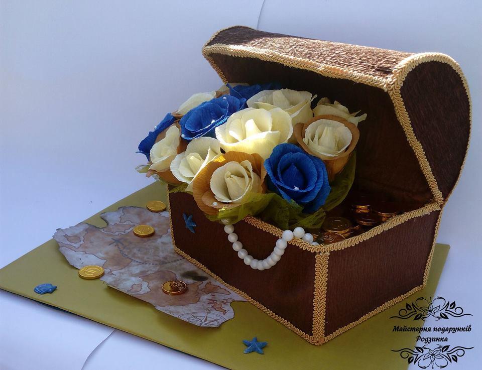 """Подарунок з цукерок """"Скриня піратів"""""""