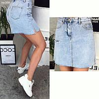 Качественная женская стильная джинсовая юбка