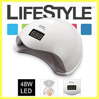 Светодиодная UV+LED лампа SUN 5 48W white с дисплеем и сенсором