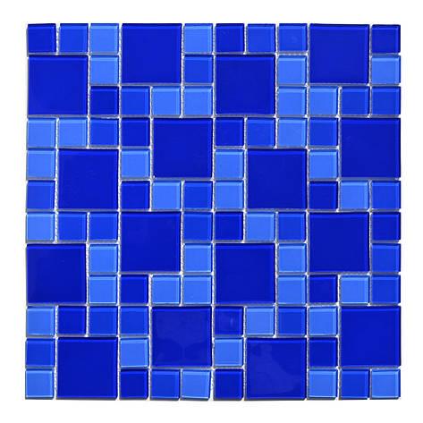 Мозаика стеклянная Aquaviva Cristall Dark Blue DCM305 (23 мм - 48 мм), фото 2