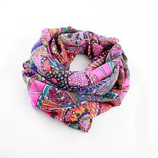 Нежный весенний шифоновый шарфик с ярким и оригинальным принтом, фото 3