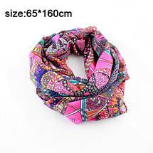 Нежный весенний шифоновый шарфик с ярким и оригинальным принтом, фото 2