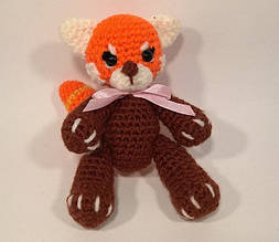 """Вязанная игрушка амигуруми """"Рыжая Панда или Мишка"""", Handmade, ручная работа"""