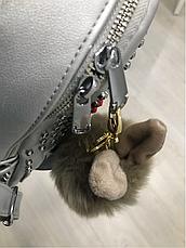 """Помпон-брелок """"Шарик с ушками"""" (цвет: коричневый), фото 2"""