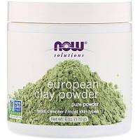 """Европейская глина для лица NOW Foods, Solutions """"European Clay Powder"""" в порошке (170 г)"""