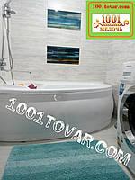"""Набор ковриков из микрофибры """"Махрамат"""" или """"Макароны или дреды"""", 90х60 см. и 60х50 см. с вырезом, бирюзовый"""