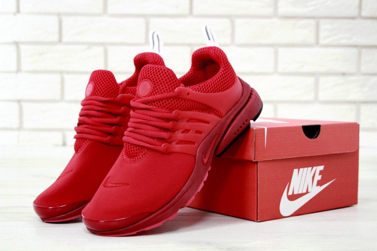 Мужские кроссовки в стиле Nike Air Presto Red (Реплика ААА+)