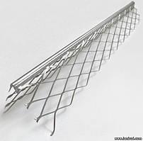 Угол для мокрой штукатурки оцинкованный 3,0 м с сеткой