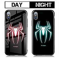 Чехол Huawei P Smart Plus Luminous Glass Spiderman (человек-паук)