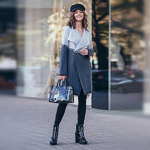 Вязаный кардиган FashionWeek графит с серым