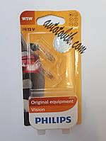 Автомобильная лампочка Philips Vision W5W 12V 5W (2шт blister), фото 1