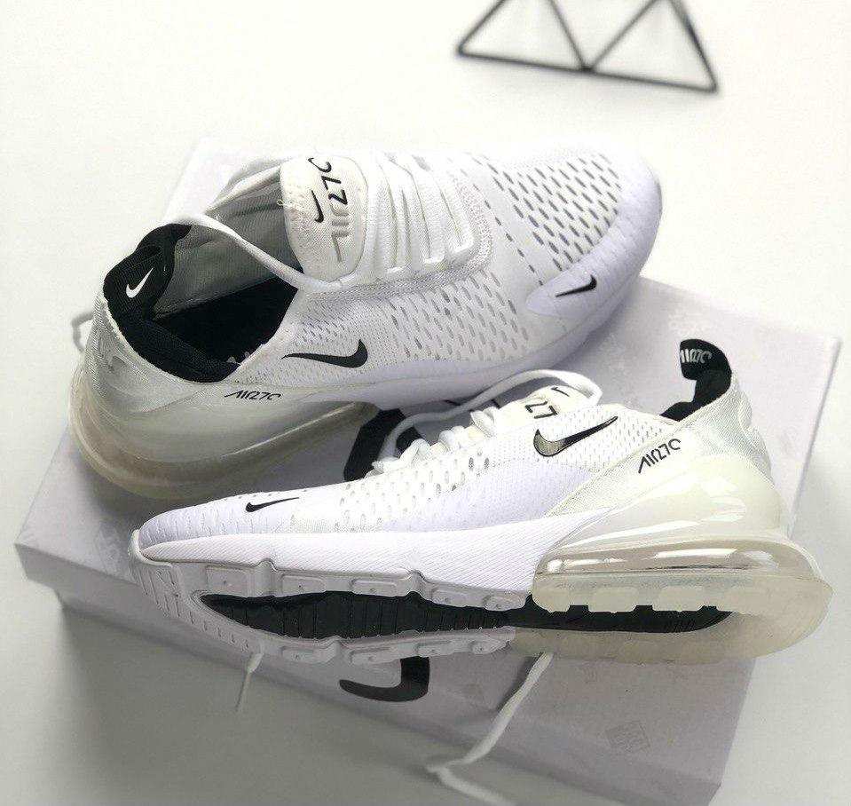 e2674d55 Nike Air Max 270 White   кроссовки мужские и женские; летние; белые - BOOT