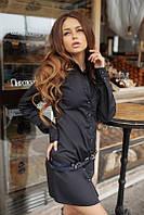 Рубашка-туника в черном и белом цветах 01250